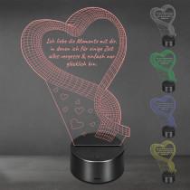 Acrylglas Aufsteller / Nachtlicht - Ein Zeichen der Liebe