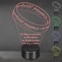 Acrylglas Aufsteller / Nachtlicht - Mein Schatz