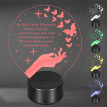 Acrylglas Aufsteller / Nachtlicht - Schmetterling
