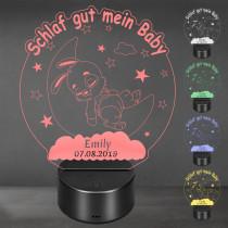 Acrylglas Aufsteller / Nachtlicht - Honey Bunny
