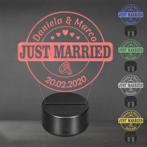 Acrylglas Aufsteller / Nachtlicht - Just Married