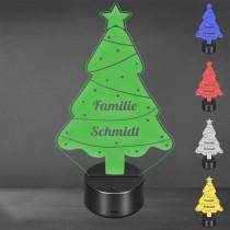 Acrylglas Aufsteller / Nachtlicht - Weihnachtsbaum