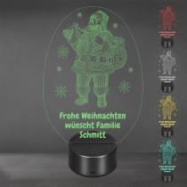 Acrylglas Aufsteller / Nachtlicht - Santa Claus