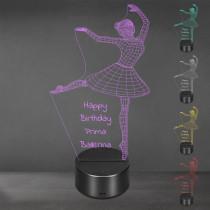 Acrylglas Aufsteller / Nachtlicht - Ballerina