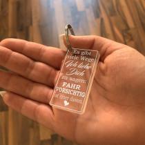 Acryl Schlüsselanhänger - Es gibt viele Wege Ich liebe Dich zu sagen