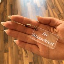 Acryl Schlüsselanhänger - Mit individueller Gravur / Wunschtext