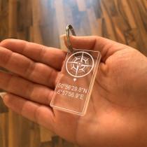 Acryl Schlüsselanhänger - Kompass des Herzens