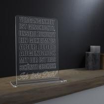 Acrylglas Pokal / Aufsteller Vergangenheit ist Geschichte